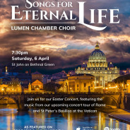 LUMEN CHAMBER CHOIR – Saturday 6 April, 7.30pm
