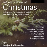 ST JOHN'S CAROL SERVICE, with LUMEN CHAMBER CHOIR. Sunday 8 December, 5pm