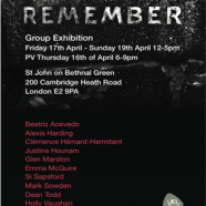 Remember, a Group Exhibition, 16 to 19 April 2015