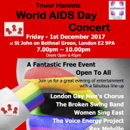 WORLD AIDS DAY CONCERT: Friday 1 December, 7pm
